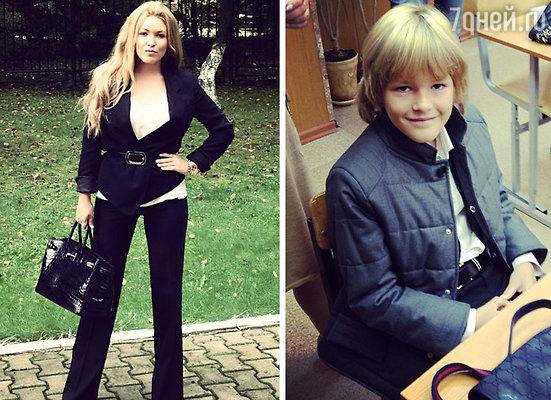 Ирина Дубцова и сын Артем