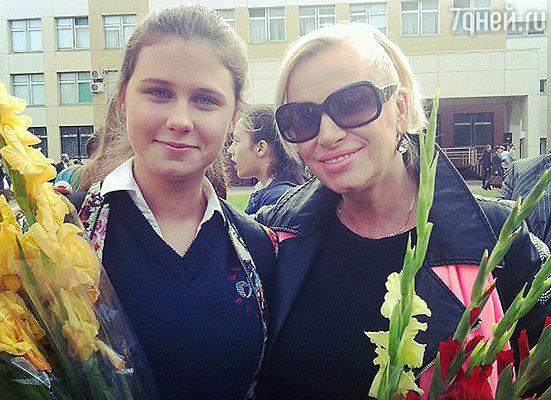 Наталья Гулькина с дочкой Яной