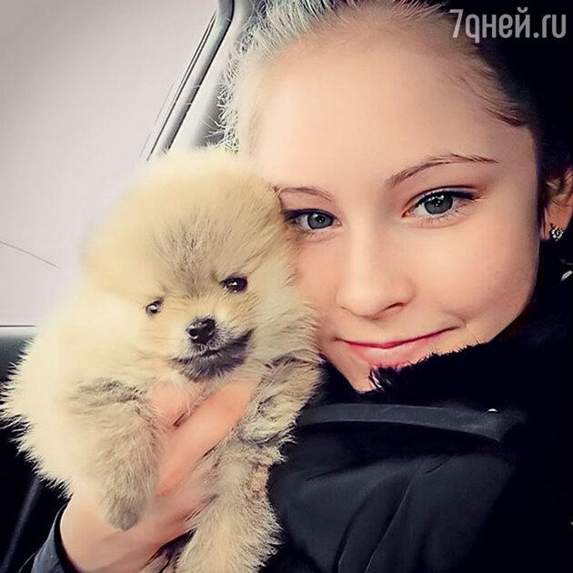 Юлия Липницкая с питомцем