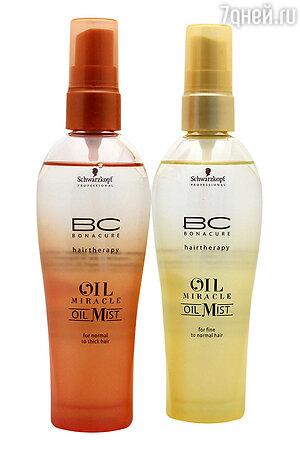Бессиликоновые масла в спрее Oil Miracle Oil Mist от Schwarzkopf Professional
