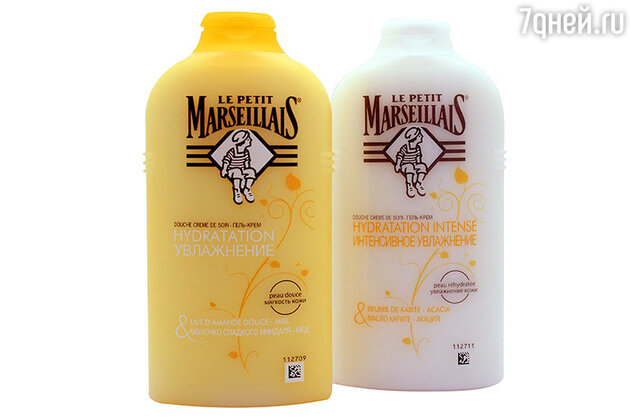 Увлажняющий гель-крем для душа «Мед и молочко миндаля» и гель-креме «Акация и масло арганового дерева» от Le Petit Marseillais