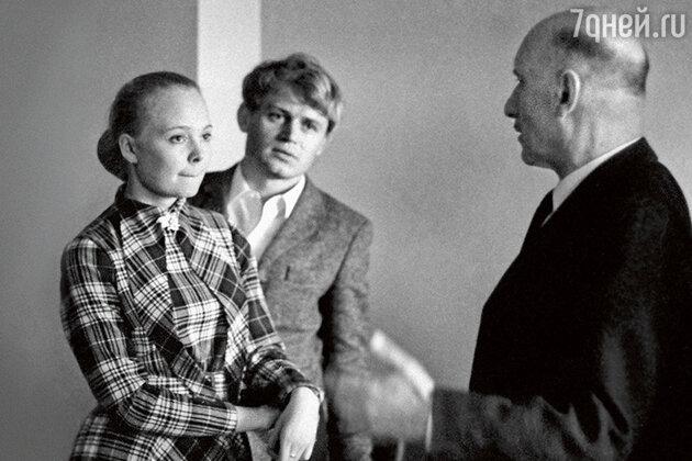 Наталия Белохвостикова с Сергеем Герасимовым и Сергеем Никоненко