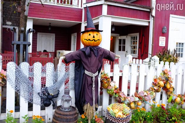 Принято украшать свои дома на Хэллоуин