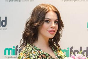 Анастасия Стоцкая на последних сроках беременности продолжает выходить в свет