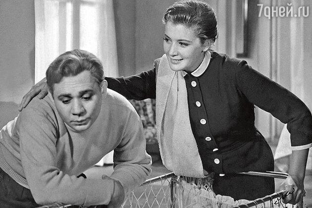 Кюнна Игнатова и Евгений Леонов в фильме «Повесть о молодоженах», 1959 год