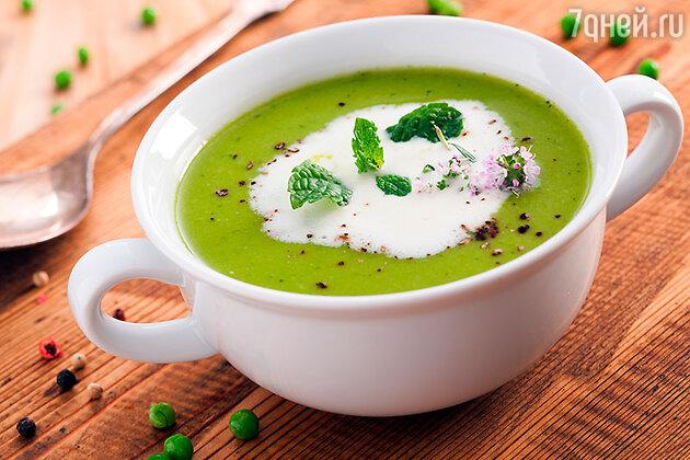 Гороховый крем-суп с фетой