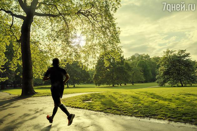 пробежка в парке Лондон