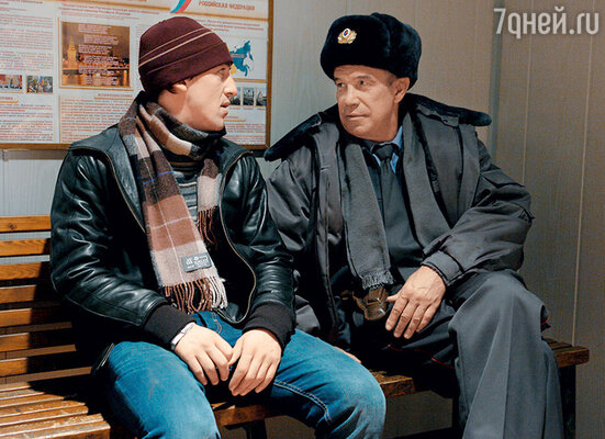 С Артуром Смольяниновым вфильме «Елки». 2010 г.