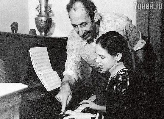 Владимир Басов с дочерью Елизаветой