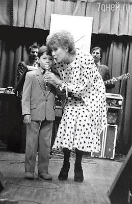 Первое выступление на сцене. Стас Пьеха с бабушкой Эдитой Станиславовоной