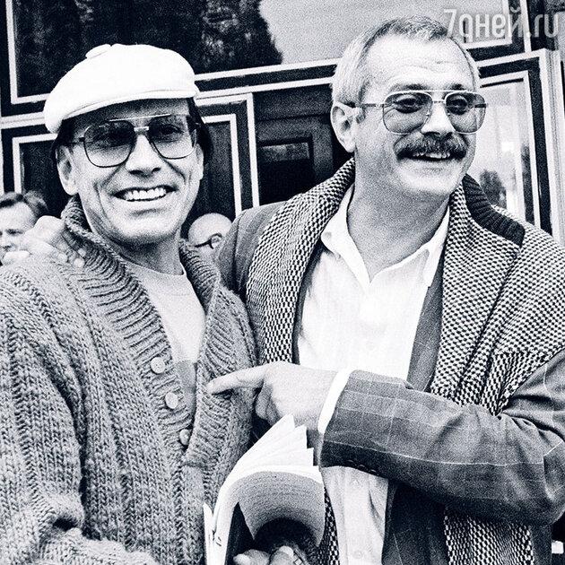 Андрон и Никита Михалков в Одессе на кинофестивале «Золотой Дюк», 1988 год