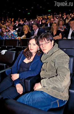Валерий Тодоровский, чьи «Стиляги» завоевали несколько наград, с женой Евгенией Брик