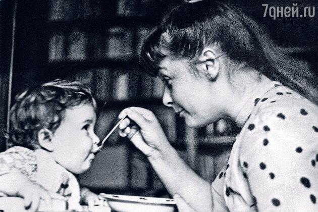 Ольга Бган с сыном Женей