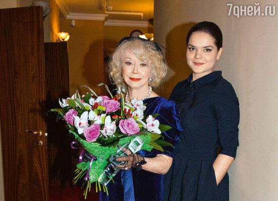 Светлана Немоляева с внучкой Полиной Лазаревой