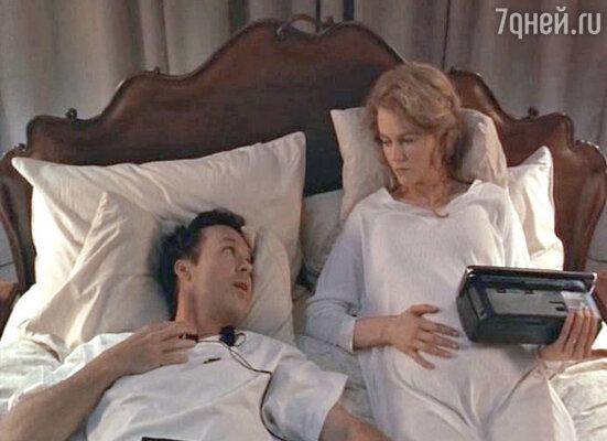 Николь Кидман, ее накладной живот и Майкл Китон. Кадр из драмы «Моя жизнь»