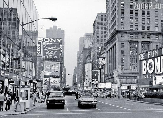 Таймс-сквер, Нью-Йорк, 1970 год