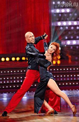 В «Танцах со звездами» с Евгением Папунаишвили. 2009 г.