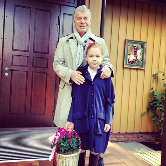 Олег Газманов с дочкой