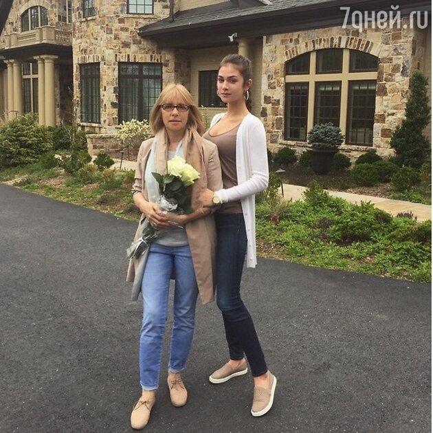 Вера Глаголева с дочерью