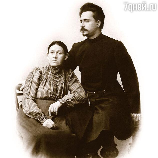 Леонид Андреев с матерью Анастасией Николаевной