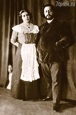 Леонид Андреев с женой Анной Ильиничной