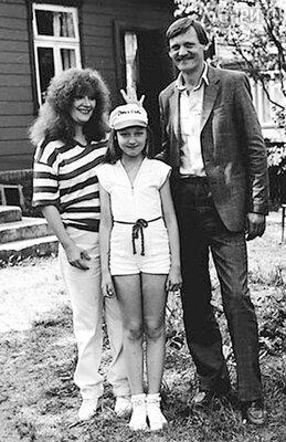 Алла Пугачева и миколас Орбакас с дочерью Кристиной