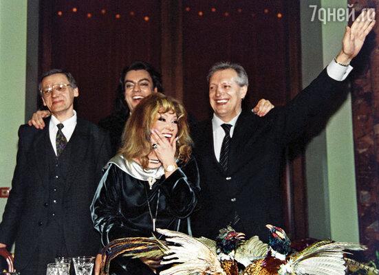 Три мужа Примадонны — Миколас Орбакас, Филипп Киркоров и Евгений Болдин