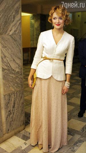 Надежда Михалкова на вручении  премии «Золотой орёл», 2012 год