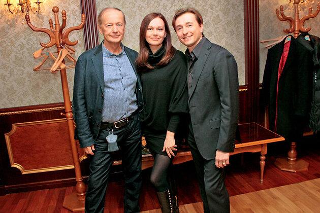 Сергей и Ирина Безруковы и Михаил Задорнов