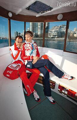 Юлия Бордовских с мужем Алексеем Кравцовым