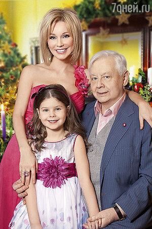 Марина Зудина и Олег Табаков с дочерью Машей