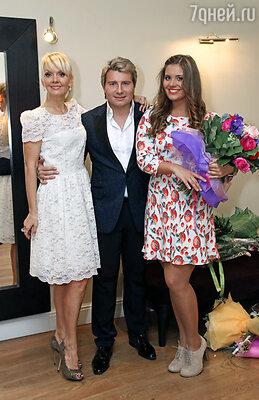 Валерия с дочерью Анной и Николаем Басковым