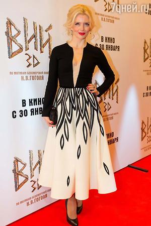 Анна Чурина  на премьере фильма «Вий»