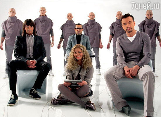 Группа «Дискотека Авария» на съемках клипа