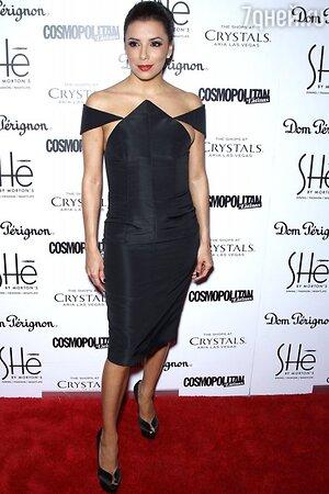 Ева Лонгория в платье от Cushnie et Ochs на открытии ресторана SHe by Morton's