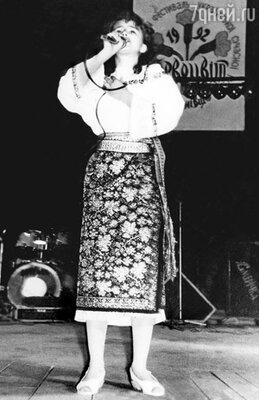 На фестивале «Первоцвет». Каролине 13 лет