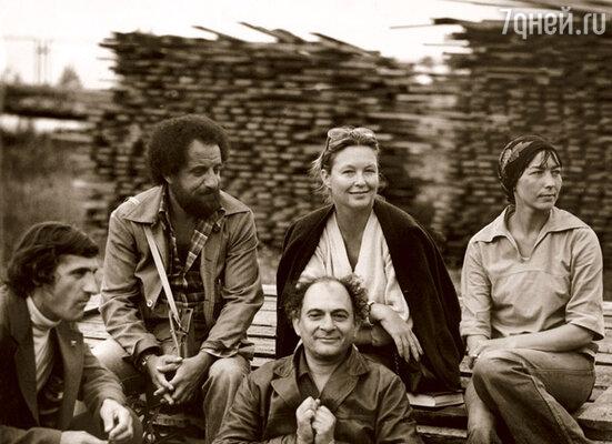 С Мариной Влади во время съемок фильма «Место встречи изменить нельзя»