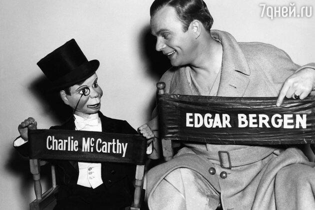 Эдгар Берген с куклой Чарли МакКарти. 1938 г.
