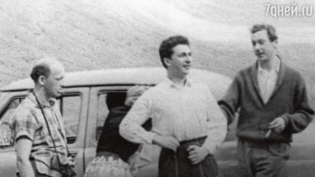 Игорь Кваша, Олег Ефремов и Евгений Евстигнеев  на гастролях в Грузии