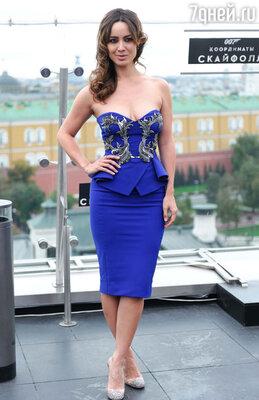 Чтобы представить картину под названием «007: Координаты Скайфолл», в Москву прибыла исполнительница главной женской роли французская актриса Беренис Марло