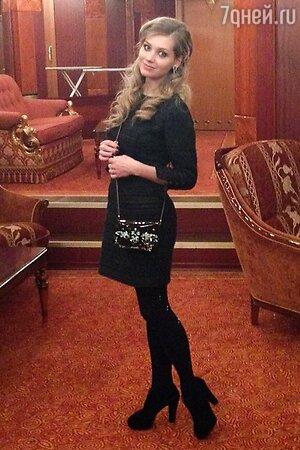 Кристина Асмус на съемках программы Comedy Club