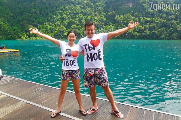 Любовь Тихомирова с мужем Ласло Долински на острове Лангкави в Малайзии