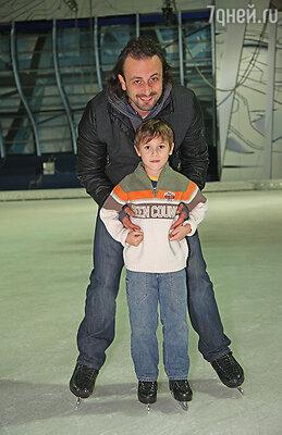 С сыном Мартином