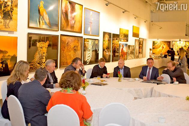 Пресс-завтрак по случаю открытия выставки «Зов Африки»