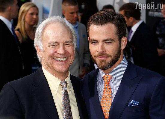 Крис с отцом Робертом Пайном
