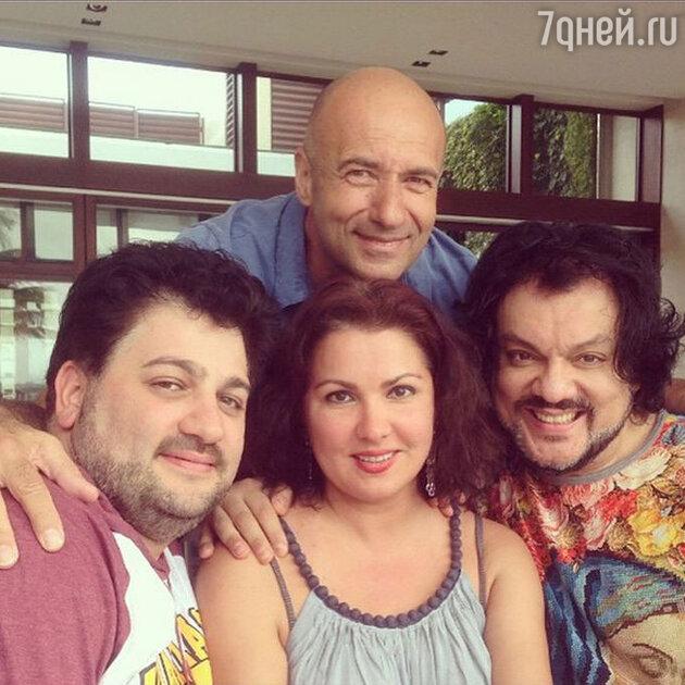 Филипп Киркоров, Игорь Крутой, Анна Нетребко и ее супруг