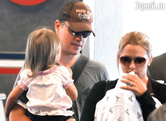 Мэтт, Лучана с дочерьми Изабеллой и Джиа Завалой