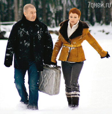 Сергей Селин и Жанна Эппле (рабочий момент съемок)