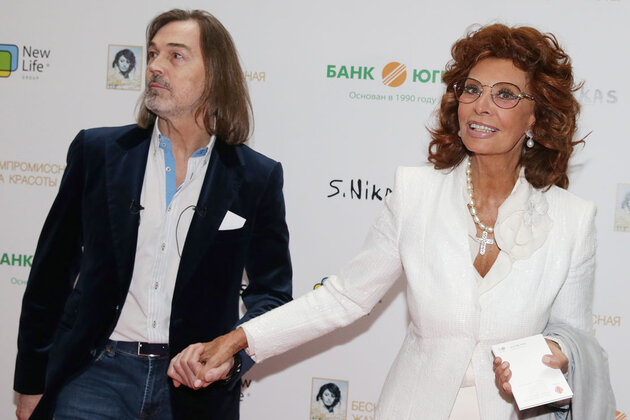 Никас Сафронов и Софи Лорен