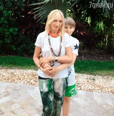 Кристина Орбакайте ссыном Дени в Майами